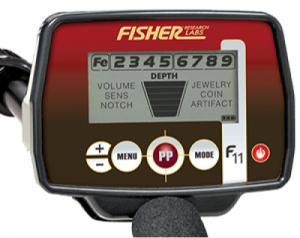 avis test detecteur de metaux Fisher F11 boitier commande