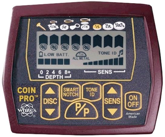 test avis coinmaster pro whites détecteur de métaux débutant boitier controle