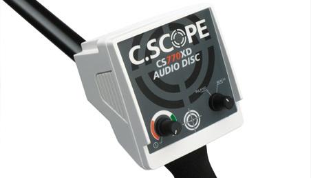 avis test detecteur de metaux c-scope CS770-XD boitier de commande