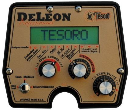 test avis Tesoro DELEON detecteur de metaux boitier commande