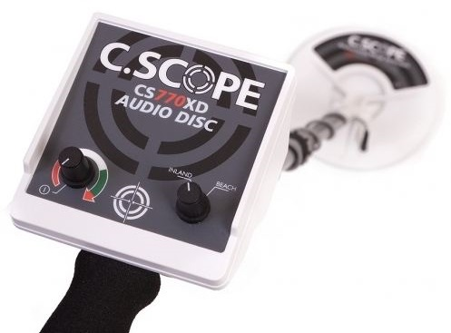 test avis detecteur de metaux c-scope CS770 XD boitier de commande