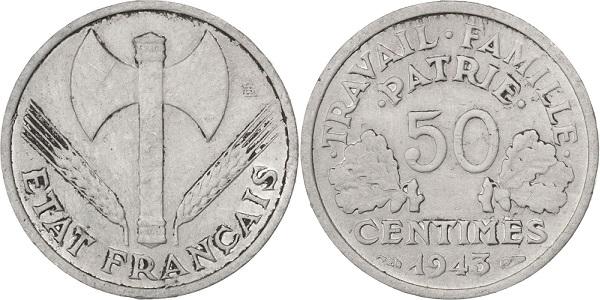 monnaie en aluminium bazor 50 centimes très rare