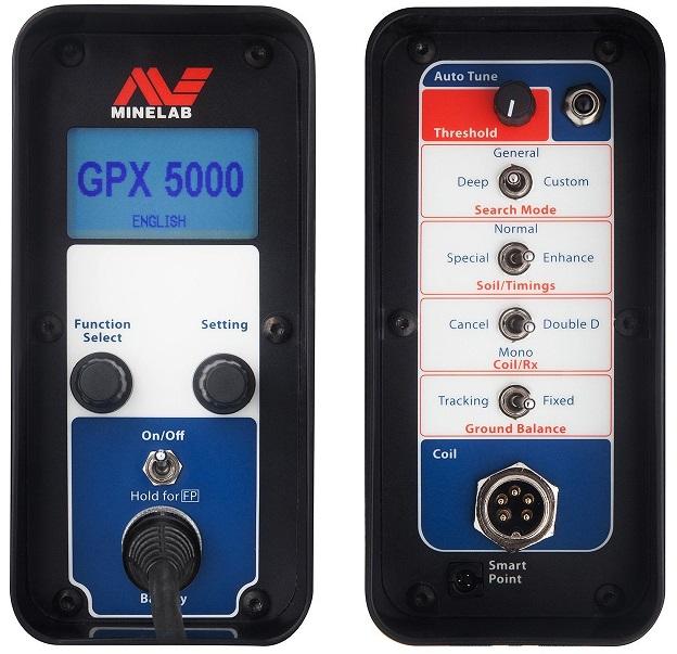 telecommande du Minelab GPX5000
